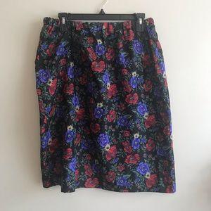 Homemade Vintage Floral Skirt